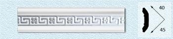 Плинтус Р45 (цвет: серебро)