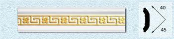 Плинтус Р45 (цвет: золото)