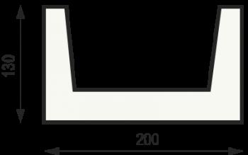 """Сечение балки """"Классика"""" 130 на 200"""