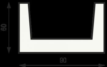"""Сечение балки """"Классика"""" 60 на 90"""