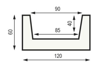 "Сечение балки ""Модерн M12"" 60 x 120 мм"